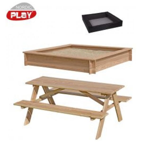 Nordic Play Sandlåda Med Picknickbord från Nordic play