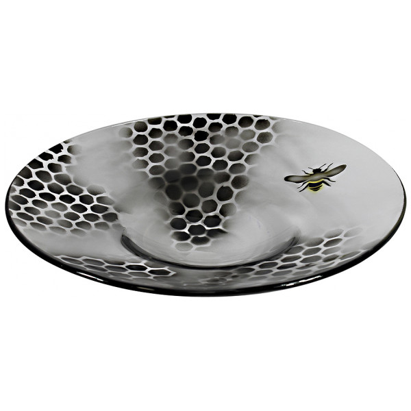 Nybro Crystal Uppläggningsfat Honeycomb Fat 35 Cm från Nybro crystal