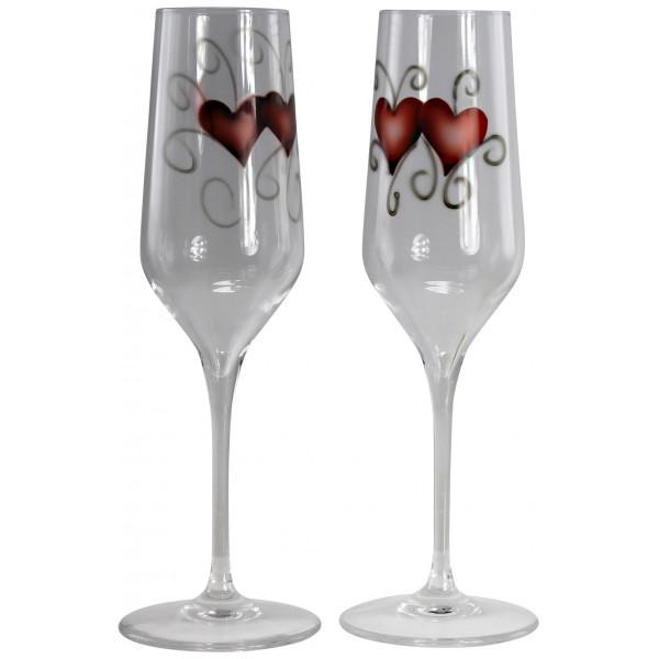 Nybro Crystal Vinglas Ink Glas 23 Cl 2-Pack Heart från Nybro crystal