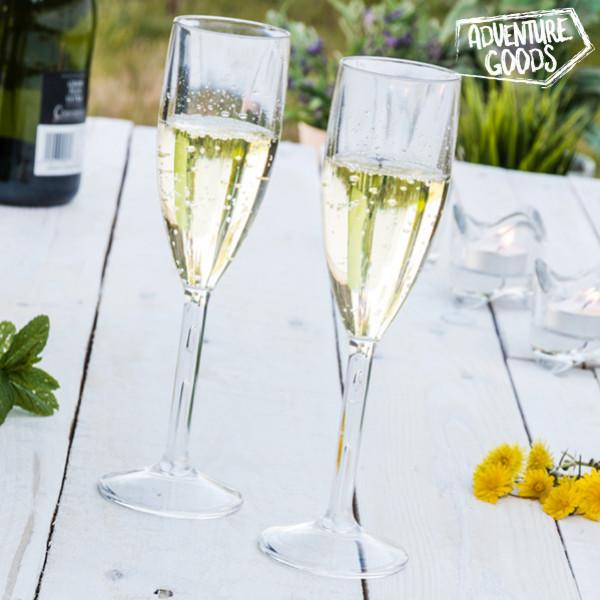 Okrossbara Champagneglas Adventure Goods 2 St från Inget märke