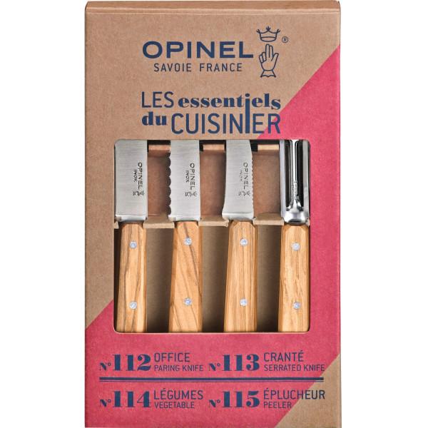 Opinel Knivset Boxes Essentiel Olivträ från Opinel
