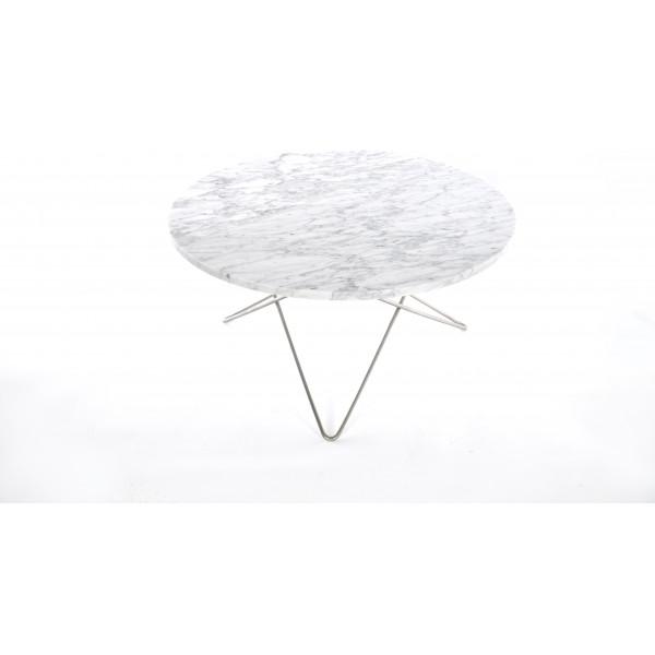 Ox Denmarq O Table Matbord Rostfritt StålVit Marmor Ø100 från Ox denmarq