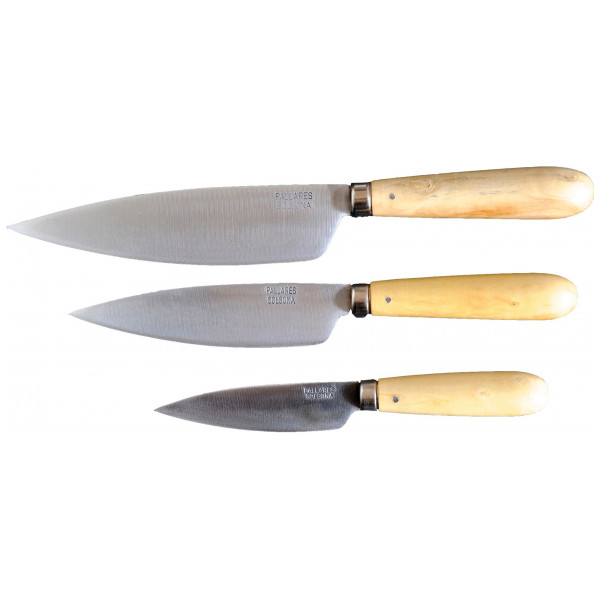 Pallarés Knivset Traditionella Köksknivar I Set Om 3 Tygfodral 9 13 16 Cm från Pallarés