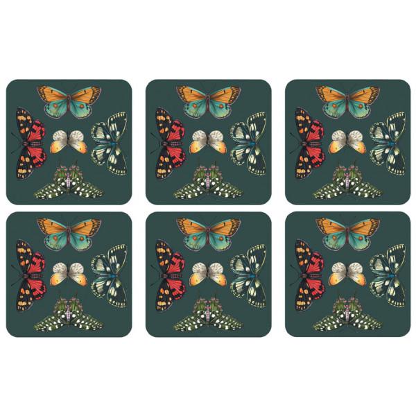 Pimpernel Glasunderlägg Botanic Garden Harmony 6-Pack från Pimpernel