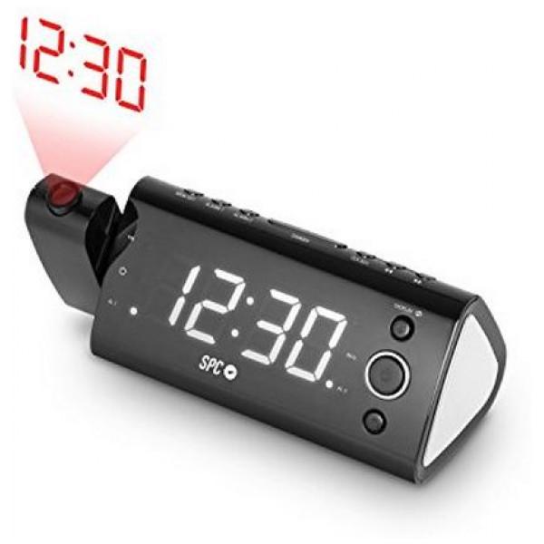 Radioväckarklocka Med Led - Projektor Spc 4571B 1 2 Fm från Inget märke