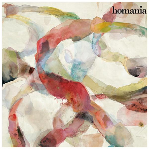 Röd Abstrakt Tavla By Homania från Inget märke