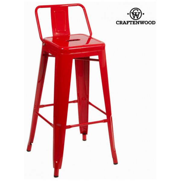Röd Barstol I Metall By Craftenwood från Inget märke