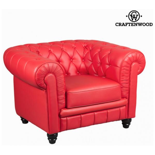Röd Ensitssoffa By Craftenwood från Inget märke