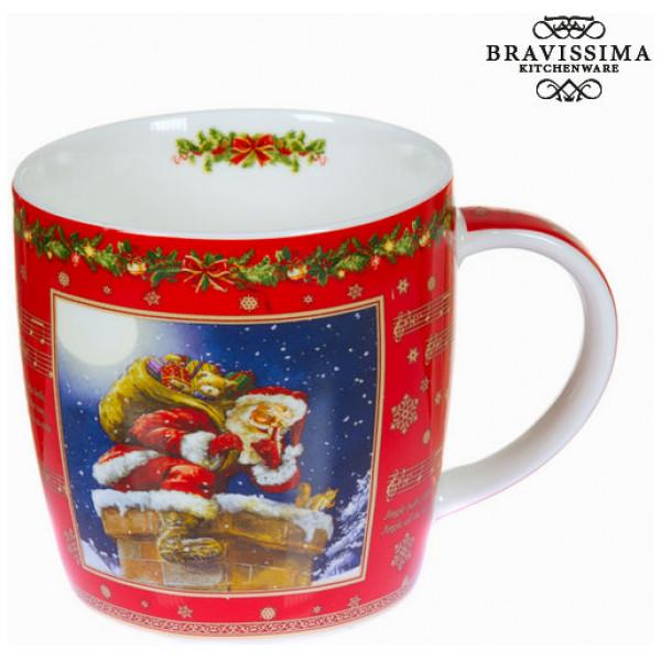 Röd Julmugg I Porslin By Bravissima Kitchen från Inget märke