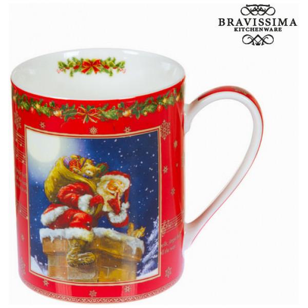 Röd Porslinsmugg Jul By Bravissima Kitchen från Inget märke