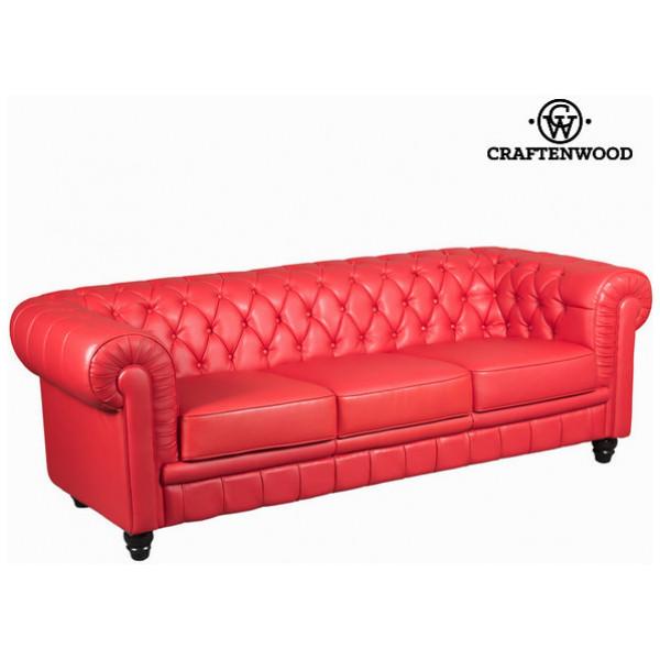 Röd Tresitssoffa By Craftenwood från Inget märke