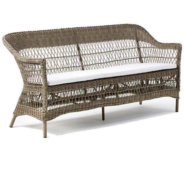 Rottingsoffa Charlot 3 - Sits Antique Sika - Design från Inget märke