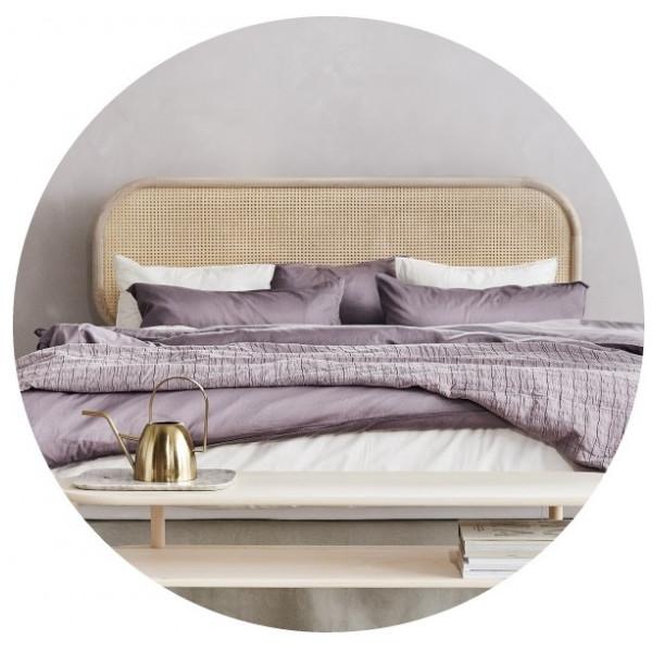 Sänggavel Lempi 210 Cm Natur Rotting Matri från Inget märke
