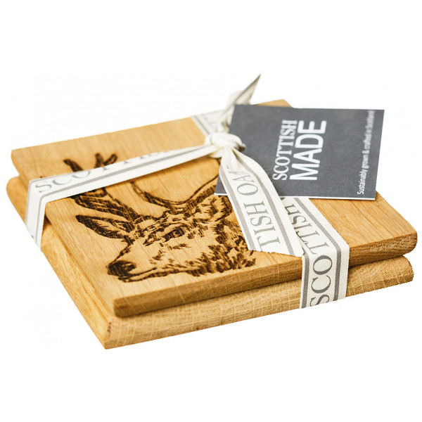 Scottish Made Glasunderlägg Ek Hjort 2-Pack från Scottish made