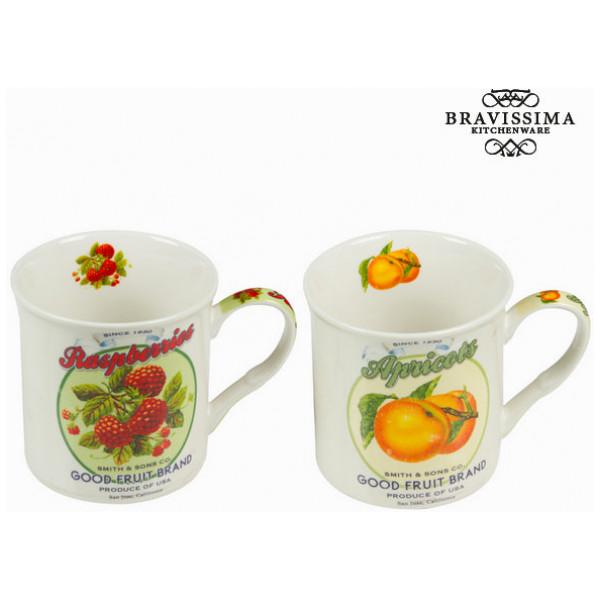 Set Med 2 Muggar Fruktdesign - Kitchen ' S Deco Samling By Bravissima Kitchen från Inget märke