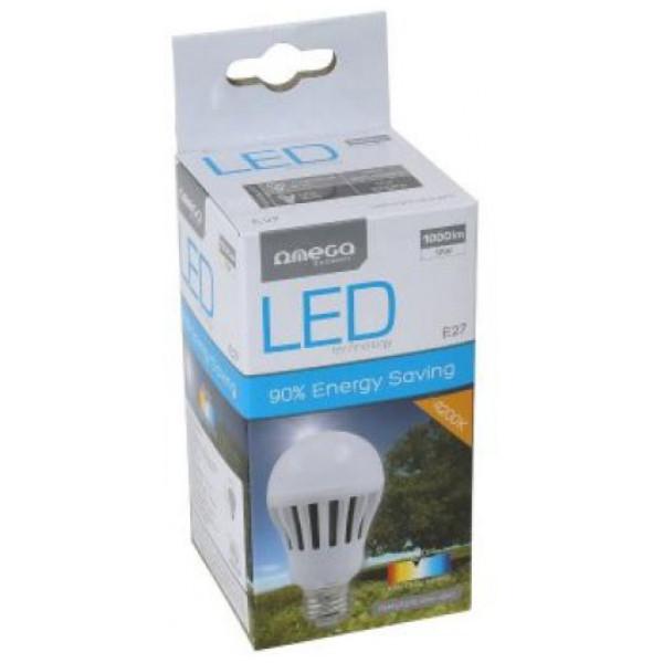 Sfärisk Led - Lampa Omega E27 12W 1000 Lm 4200 K Naturligt Ljus från Inget märke
