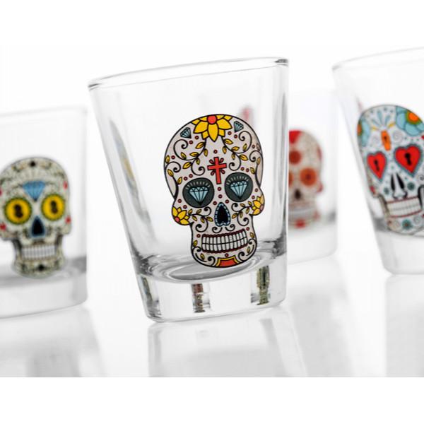 Shotglas Med Dödskalle 4 St från Inget märke