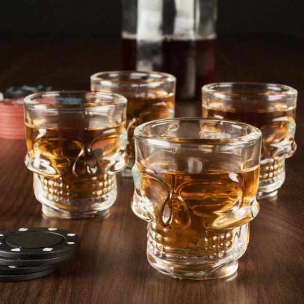 Shotglas Med Döskallerelief 4 St från Inget märke