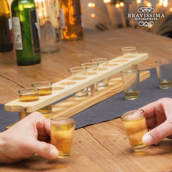 Shotglas Med Träställ Bravissima Kitchen 11 Delar från Inget märke