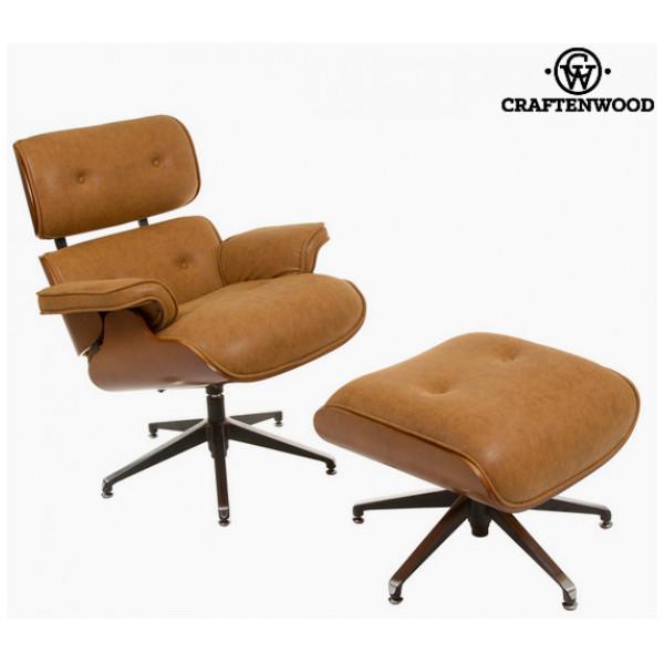 Sittplats Retro Stol Med Arm - Och Fotstöd By Craftenwood från Inget märke