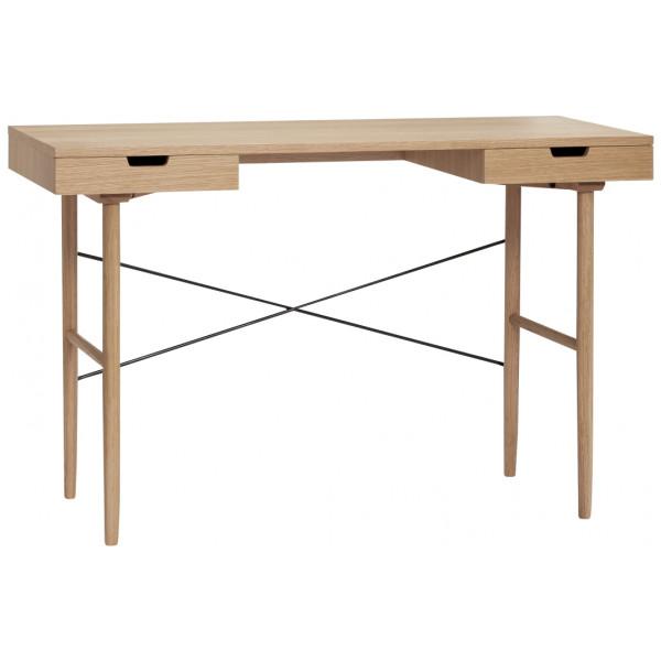 Skrivbord 120 Cm Två Lådor Ek Hubsch från Inget märke