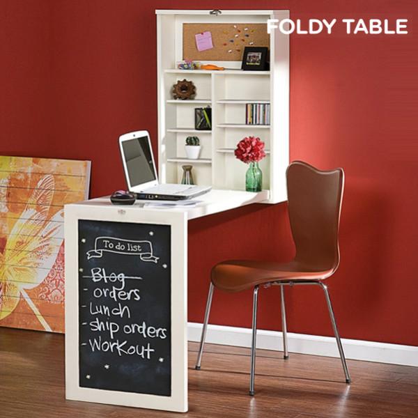 Skrivbord Hopfällbart Väggskrivbord Foldy Table W från Inget märke