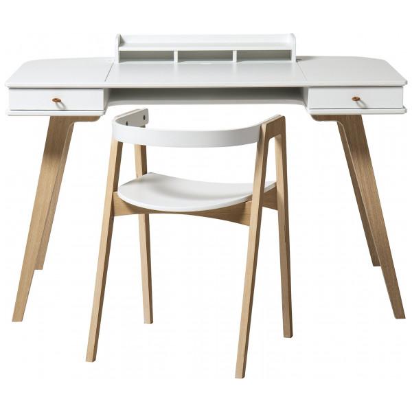 Skrivbord Wood 66 Cm Och Skrivbordsstol Oliver Furniture från Inget märke