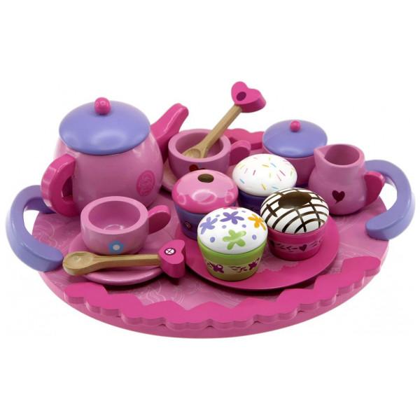 Smurfarna Tea - Servis I Trä från Inget märke