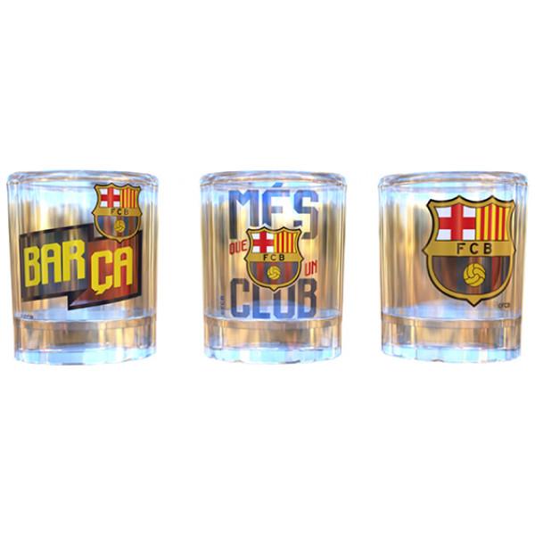 Snapsglas F C Barcelona 3 St från Inget märke