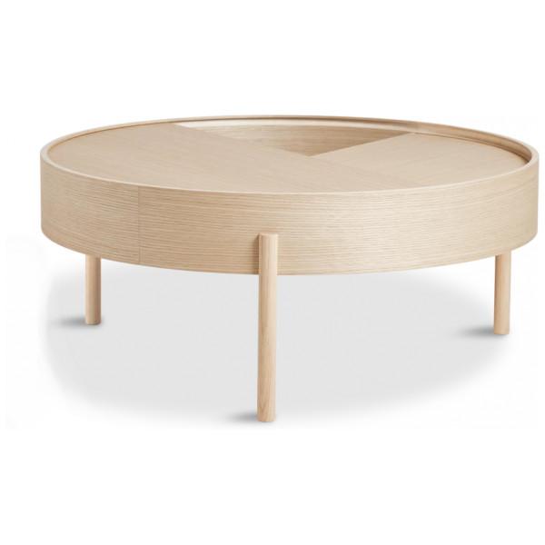 Soffbord Arc Coffee Table 89 Cm Vitpigmenterad Ek Woud från Inget märke