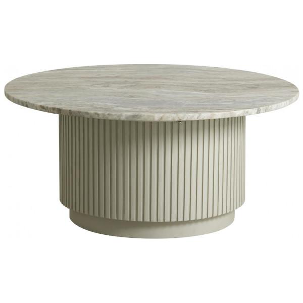Soffbord Pelarsoffbord Marmor 90 Cm Nordal från Inget märke