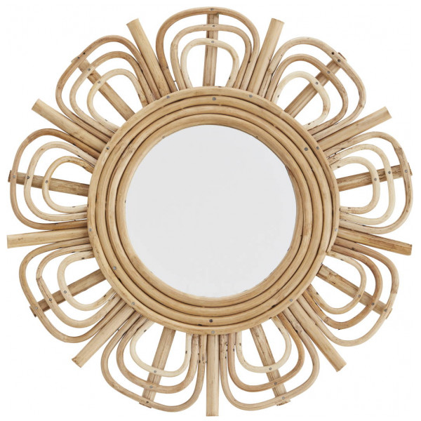 Spegel Rund Bambu Madam Stoltz från Inget märke