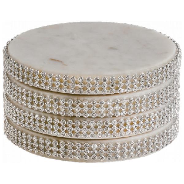 Svensk Marmor Glasunderlägg Med Strass Coaster från Svensk marmor