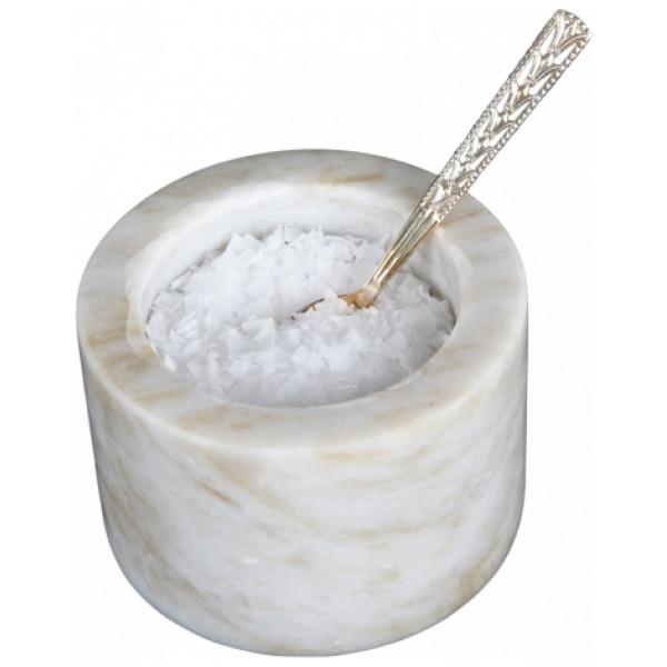 Svensk Marmor Saltkar Ljus Marmor Salt från Svensk marmor