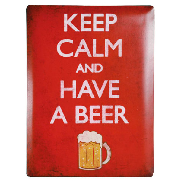 Tavla Metallskylt Keep Calm And Have A Beer från Inget märke