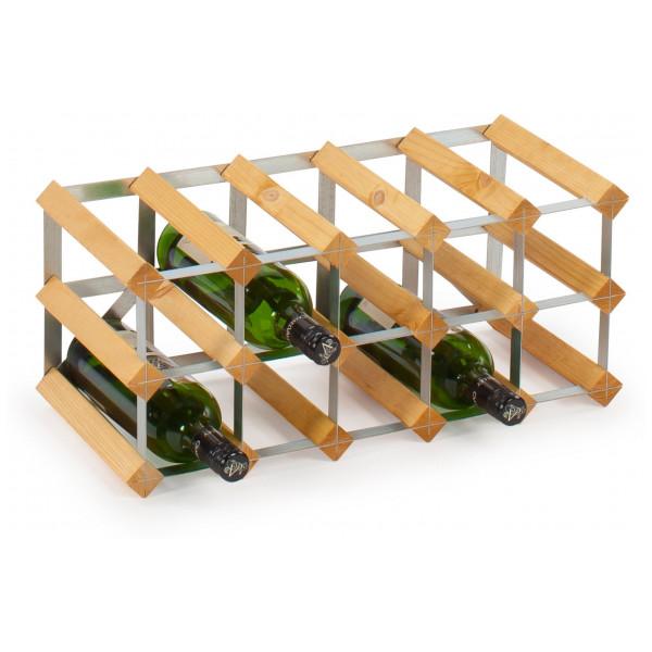 Traditional Wine Racks Påbyggnadsbart 15 Flaskor Light Oak från Traditional wine racks