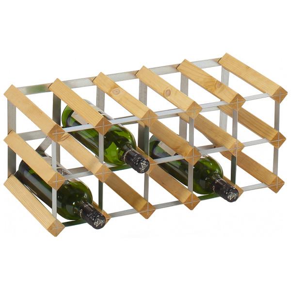 Traditional Wineracks Påbyggnadsbart Vinställ För 15 Flaskor Ljust Trä från Traditional wineracks