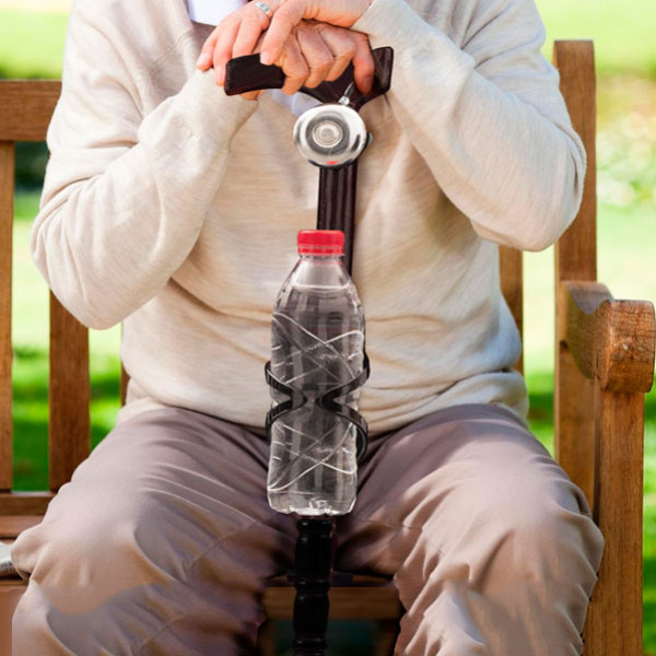 Träkäpp Med Ringklocka Och Flaskhållare från Inget märke