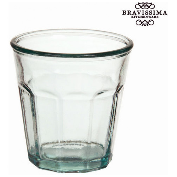 Vas I Återvunnet Glas Låg - Pure Crystal Kitchen Samling By Bravissima från Inget märke