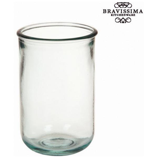 Vas I Återvunnet Glas Slät Hög - Pure Crystal Kitchen Samling By Bravissima från Inget märke