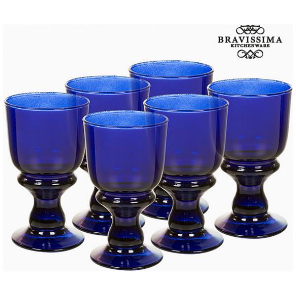 Vinglas I Återvunnet Glas 6 Pcs 250 Ml - Crystal Colours Kitchen Samling By Bravissima från Inget märke