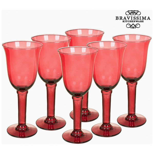 Vinglas I Återvunnet Glas 6 Pcs 350 Ml Bordeaux - Crystal Colours Kitchen Samling By Bravissima från Inget märke