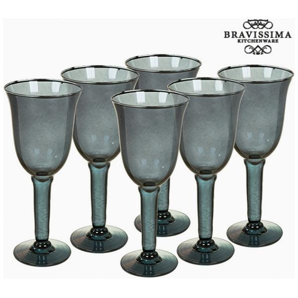 Vinglas I Återvunnet Glas 6 Pcs 350 Ml - Crystal Colours Kitchen Samling By Bravissima från Inget märke