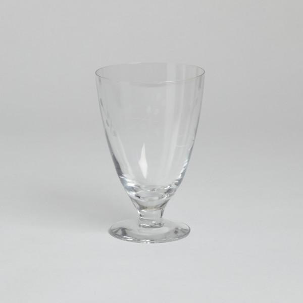 Vintage Dricksglas På Fot Med Graverad Dekor 12 St från Vintage