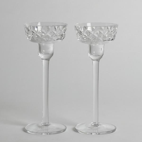 Vintage Glasljusstakar Åfors 1 Par från Vintage
