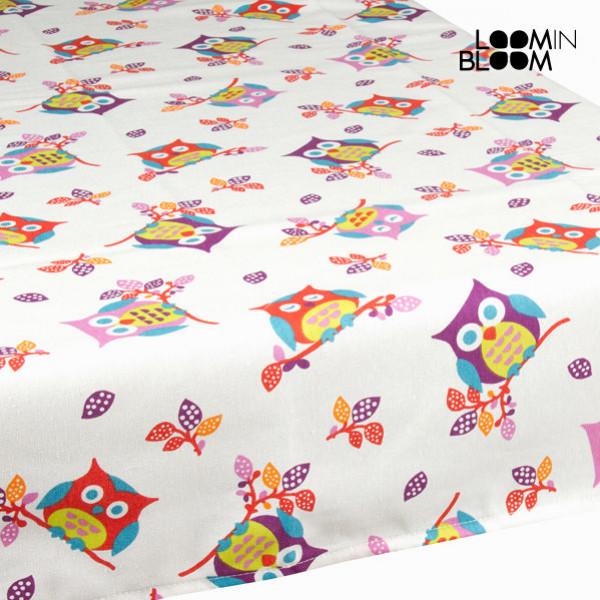 Vit Duk Ugglor By Loom In Bloom från Inget märke