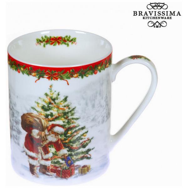 Vit Porslinsmugg Jul By Bravissima Kitchen från Inget märke