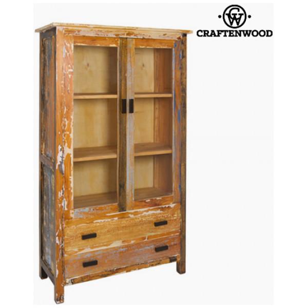 Vitrinskåp Med Dubbel Glasdörr Trä 105 X 45 180 Cm - Vintage Samling By Craftenwood från Inget märke