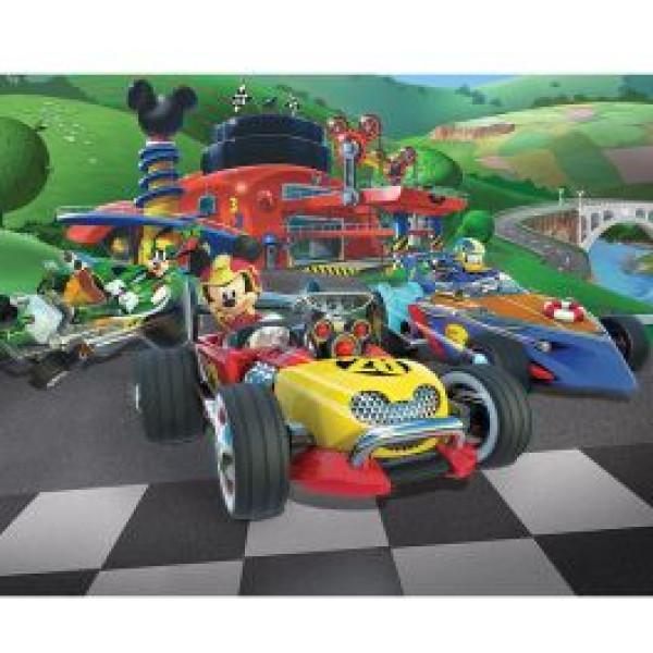 Walltastic Tapet Barntapet Disney Musse Piggs Racing från Walltastic
