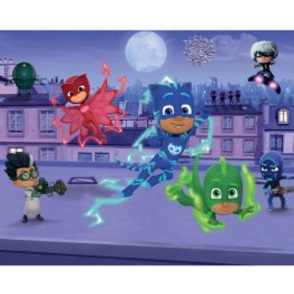 Walltastic Tapet Barntapet Disney Pj Masks Pyjamashjältarna från Walltastic